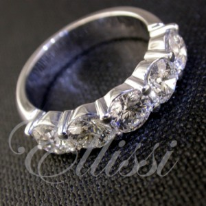 """Behati"" Round Brilliant cut diamond band."