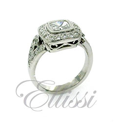 """Alexandra"" Double Bezel Halo Ring"