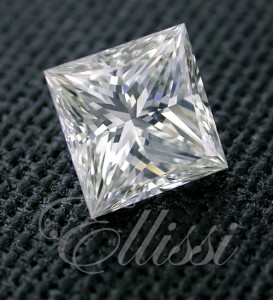 Princess Cut Diamonds from Ellissi, this one a 1.00 ct D/VS1