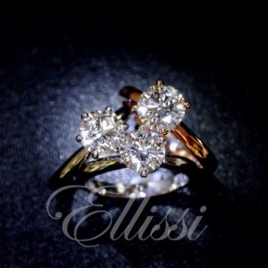 "Solitaire rings set with ""D"", ""F"" and ""G"" colour diamonds"