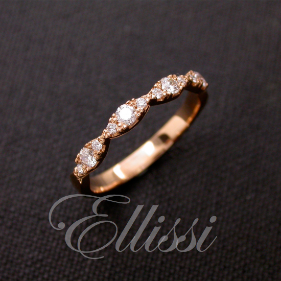 Wedding ring in 18ct. rose gold